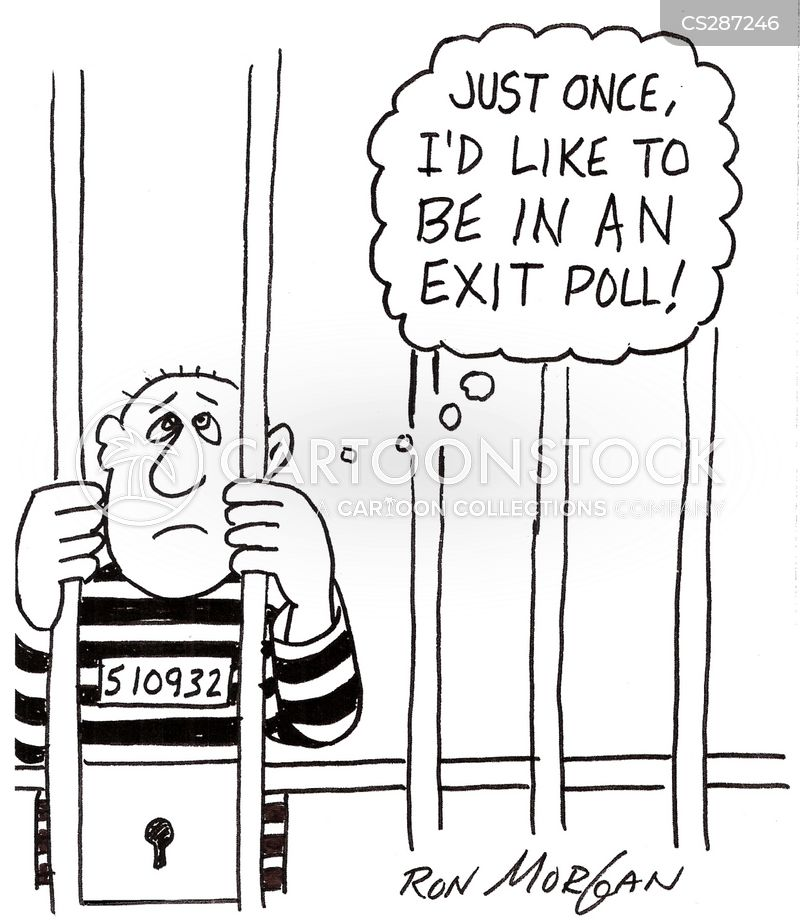 exit poll cartoon