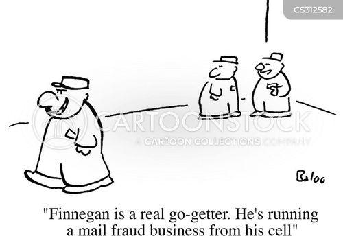 mail fraud cartoon