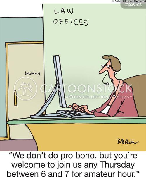 pro bono cartoon