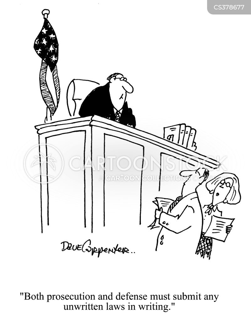 prosecuting cartoon