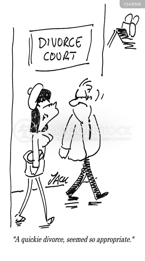 quickie divorce cartoon