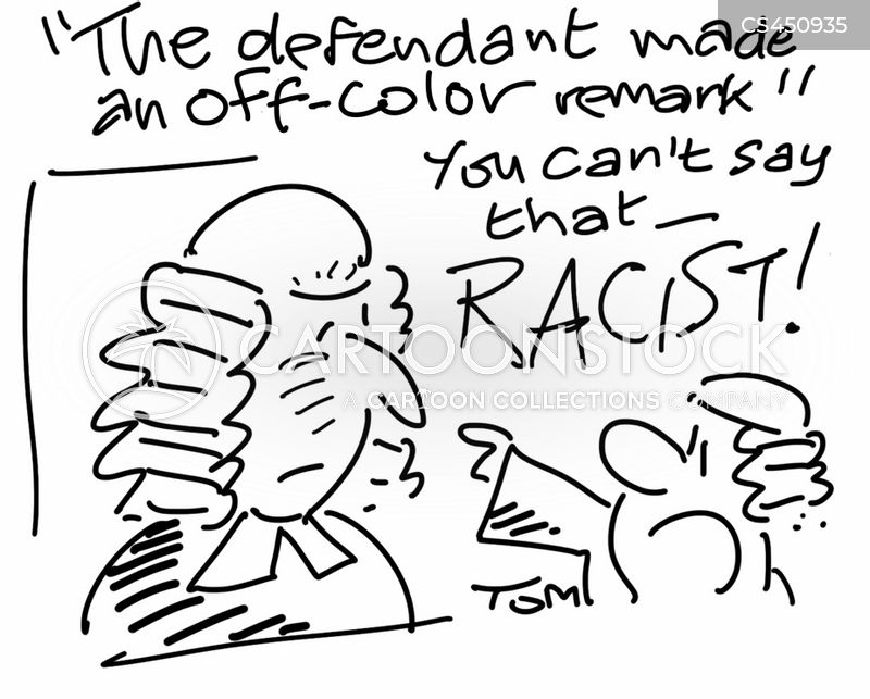 racist comment cartoon