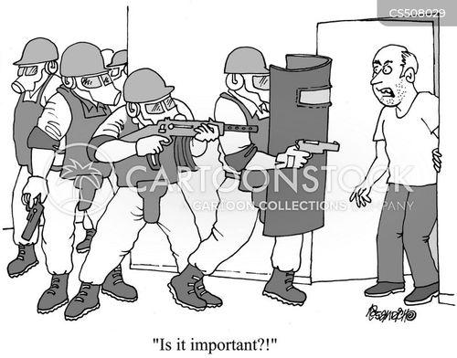 riot cop cartoon