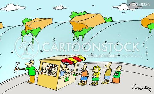 water fall cartoon