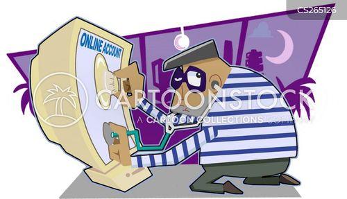burglery cartoon