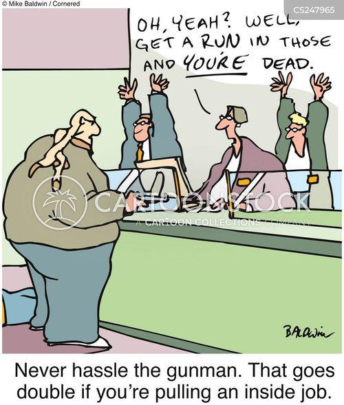 Bank Job Cartoons And Comics