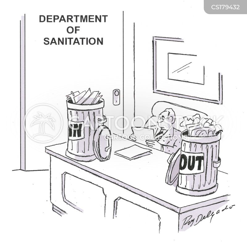 sanitation cartoon