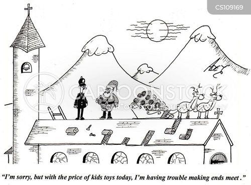 church roof cartoon