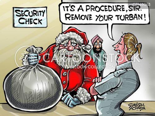 airport securities cartoon