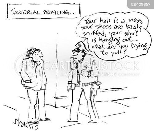 profiling cartoon