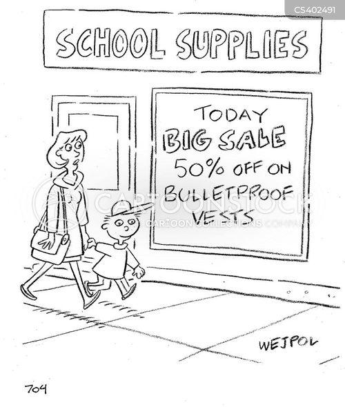 bullet proof cartoon