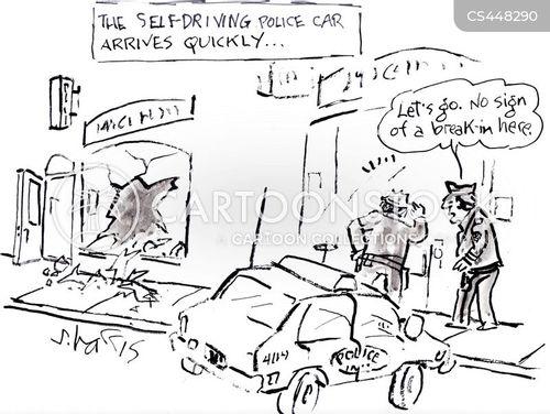 police cars cartoon