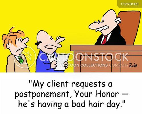 postpone cartoon