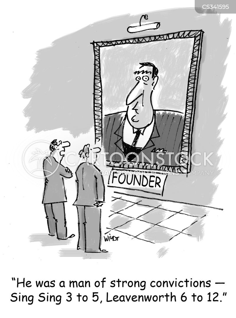 Image result for convicted bank cartoon
