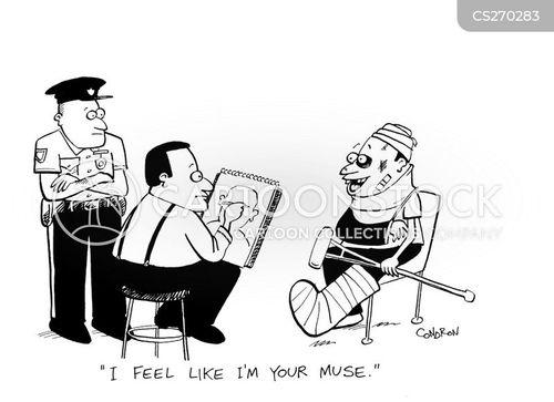 sketch artists cartoon