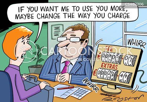 hourly rates cartoon