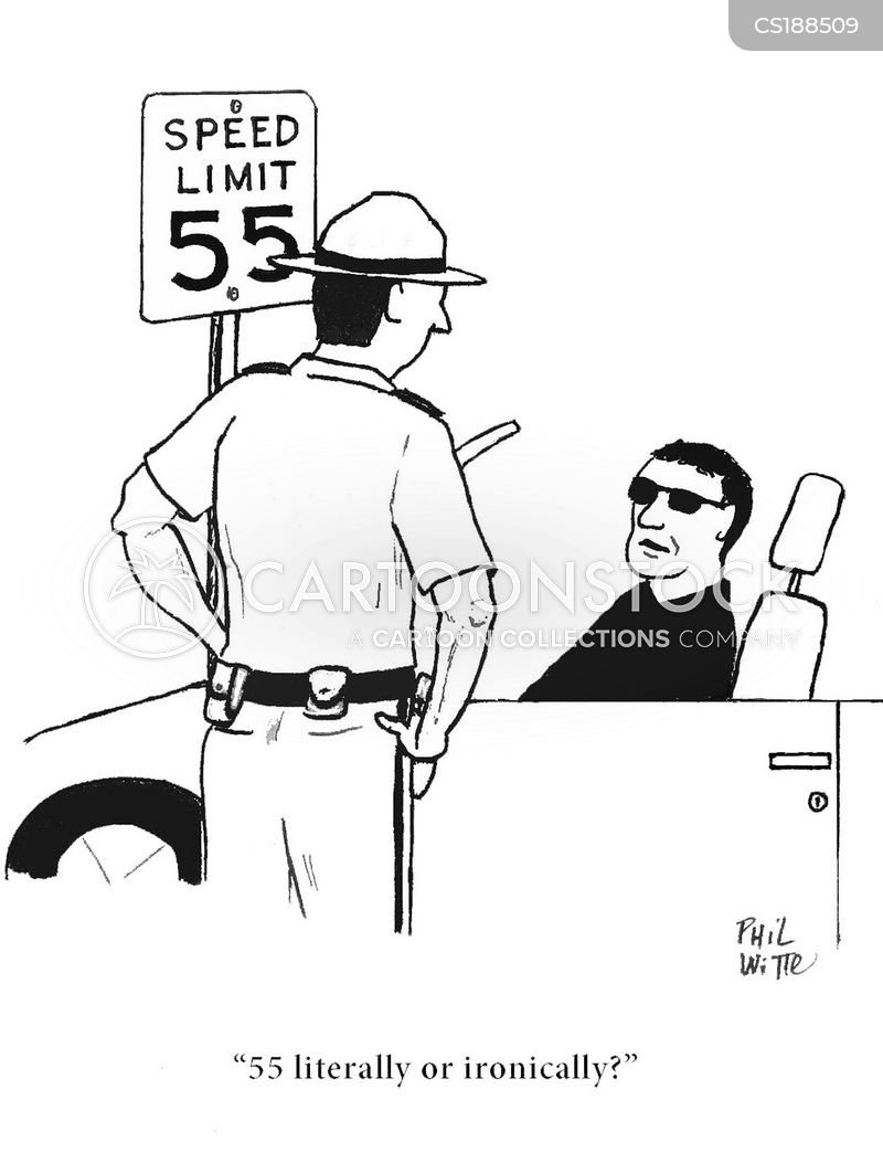 speed limit cartoon