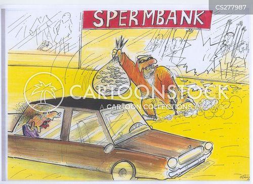 sperm banks cartoon