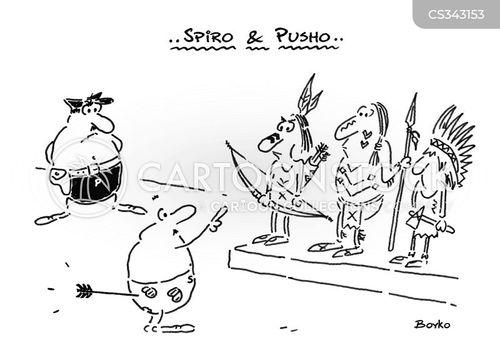 witness parade cartoon