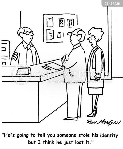 reporting a crime cartoon