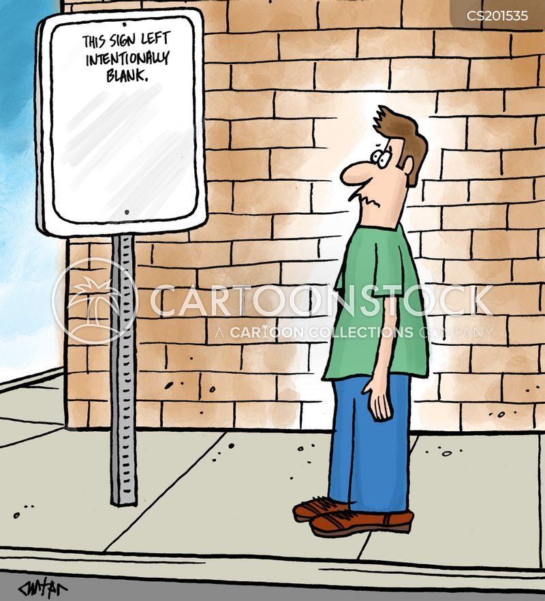 pointless signs cartoon