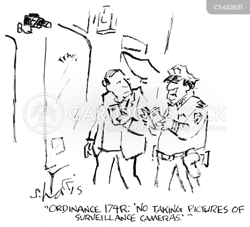 surveilling cartoon