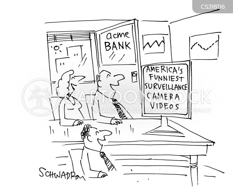 surveillance video cartoons and comics