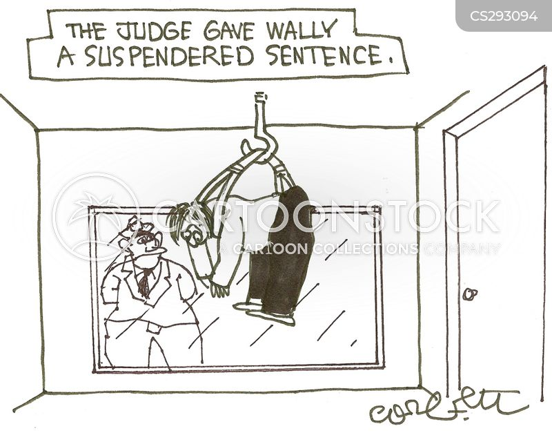 court sentence cartoon