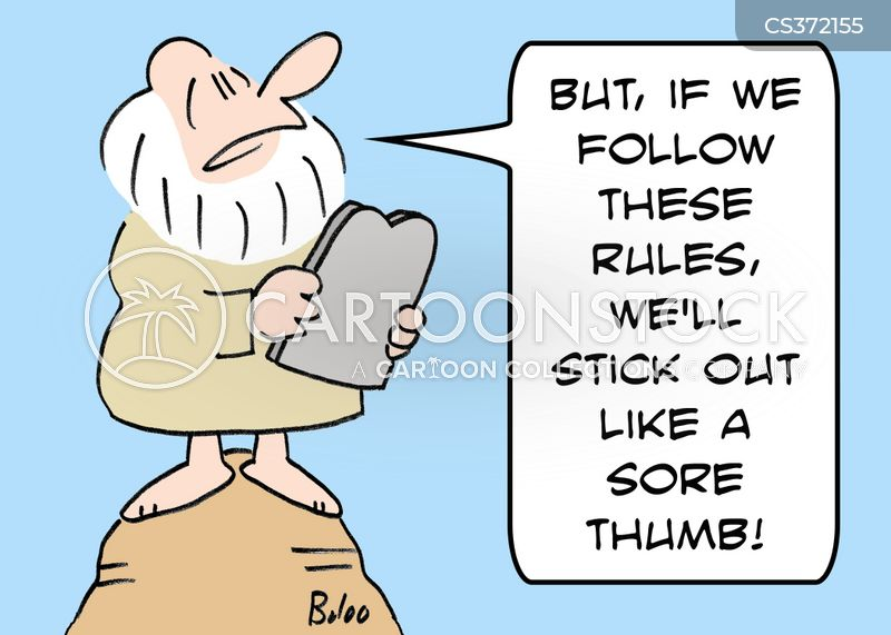 sore thumbs cartoon