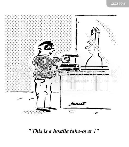 take-overs cartoon