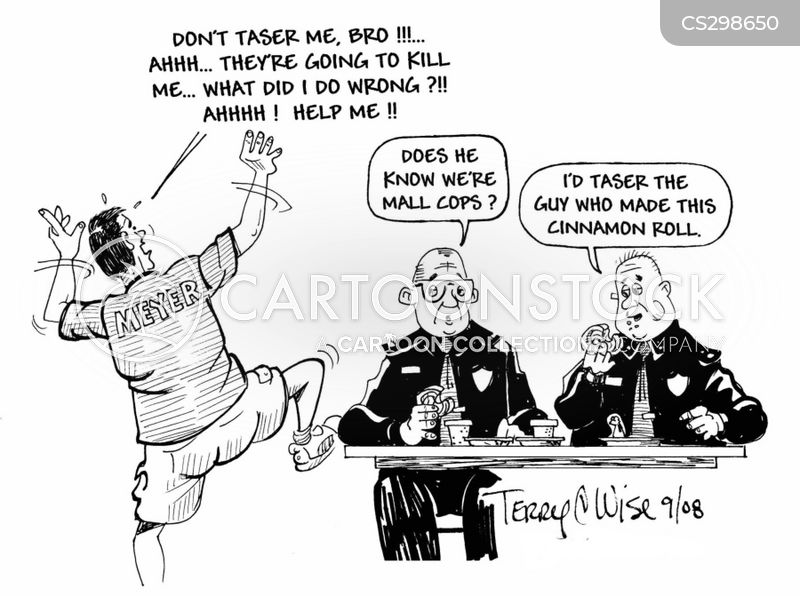 mall cop cartoon