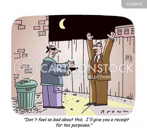 reciepts cartoon