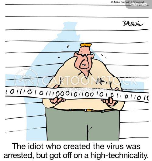 virus maker cartoon