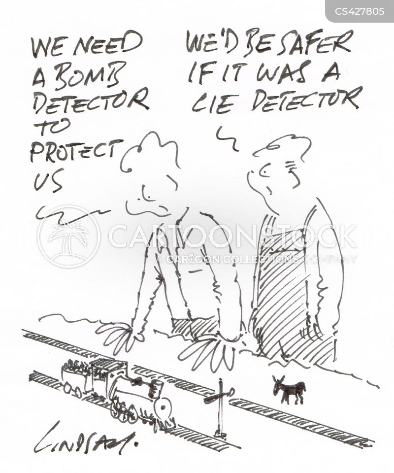 lie detection cartoon
