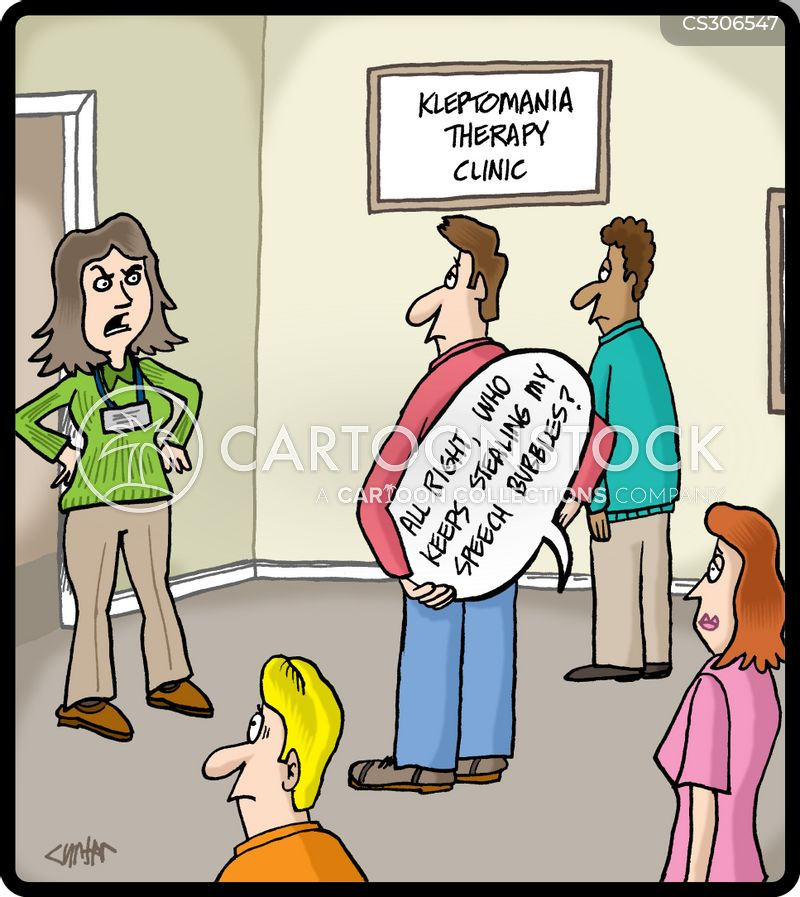 kleptomania cartoon