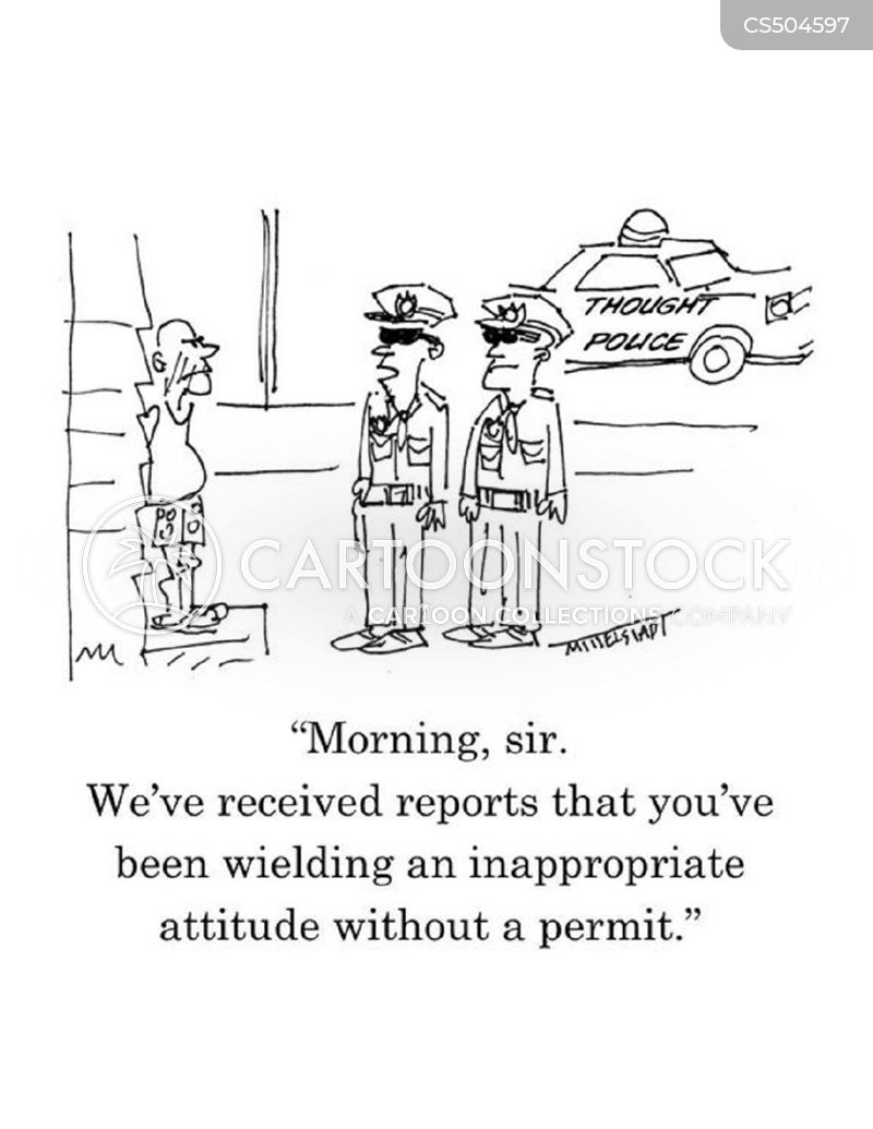 thought police cartoon