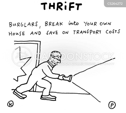 burgling cartoon