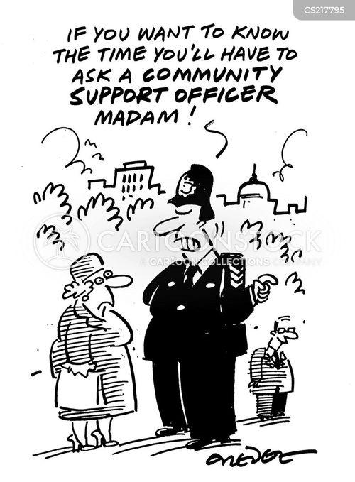 community support cartoon