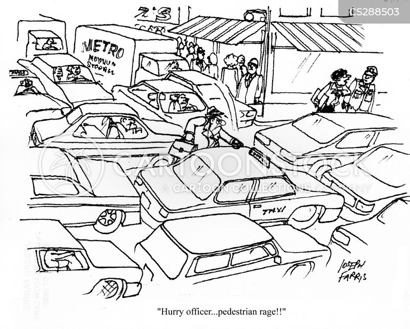 angry pedestrian cartoon