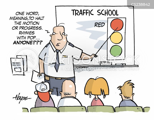 traffic school cartoon