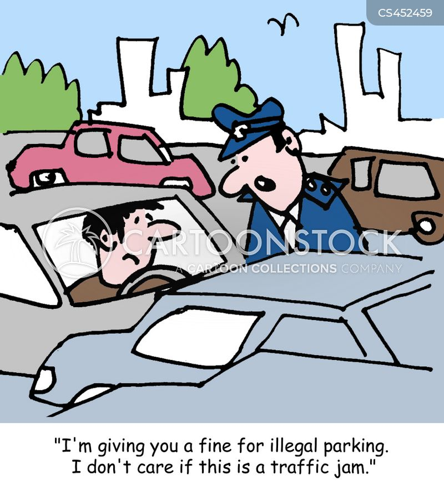 illegal parking cartoon