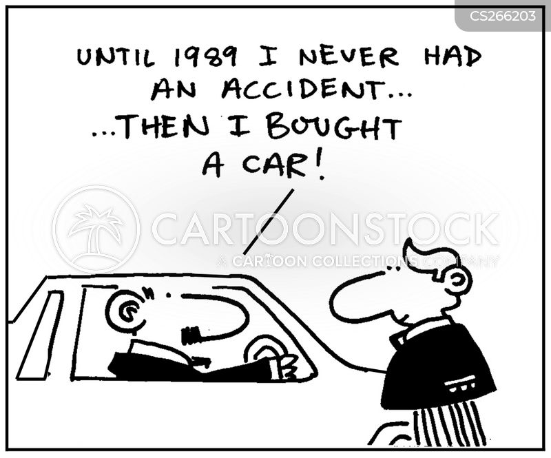car collisions cartoon