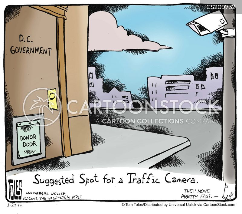 surveillance cameras cartoon
