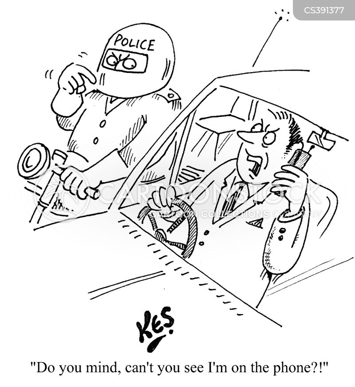 car phone cartoon