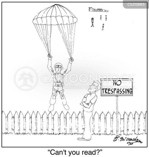 no trespassing cartoon