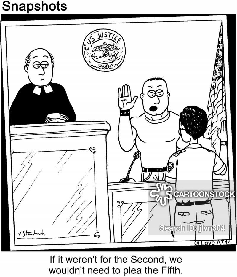 Fifth Amendment Cartoons and Comics - funny pictures from CartoonStock