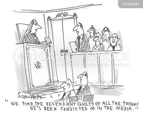 media trials cartoon