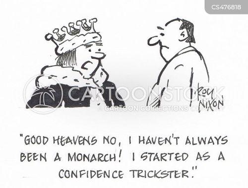 confidence trick cartoon