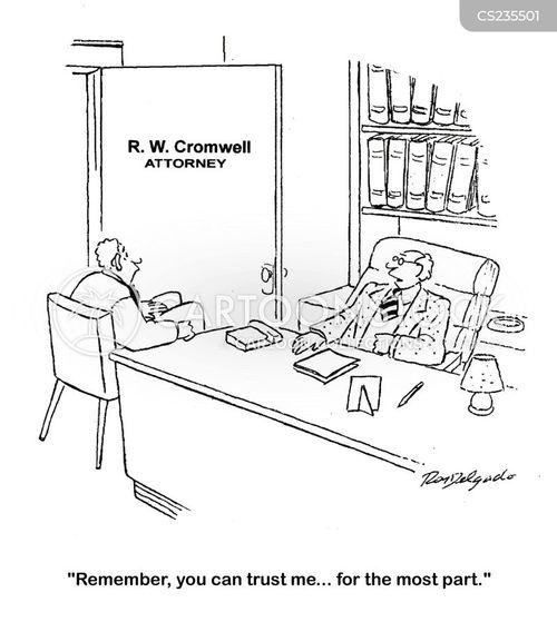 half truths cartoon