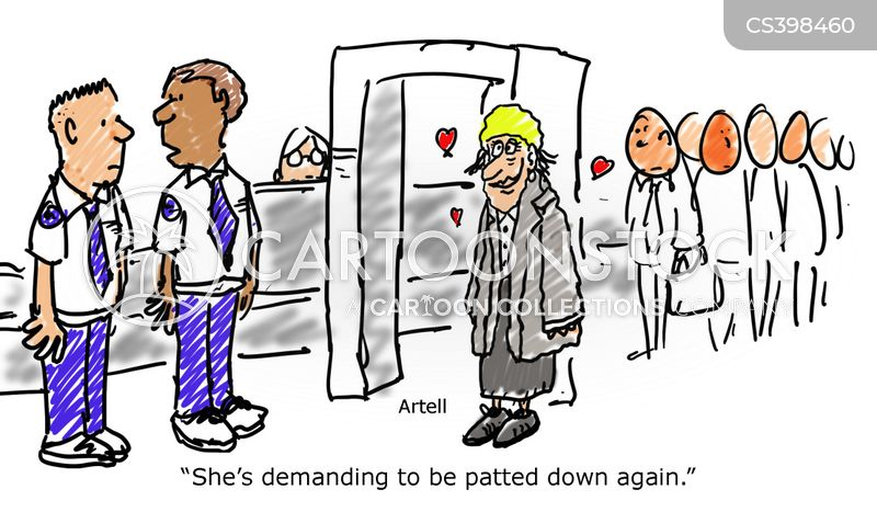 patted down cartoon